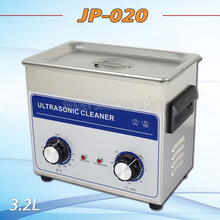 Free DHL 1PC Hot sell AC 110v/220v timer&heater JP-020 Ultrasonic cleaner 3.2L hardware accessories motor washing machine