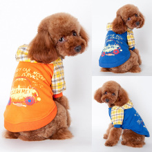 Pet Dog Fleece Coat Dogs Sweater Jumpsuit Puppy Cat Hoodie Plaids Clothes Apparel