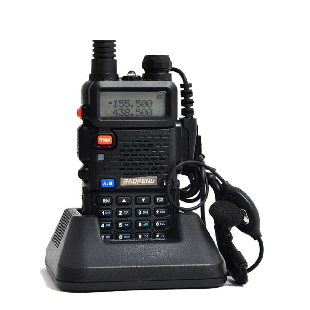 Baofeng uv 5r Walkie Talkie 5W Dual Band Portable Radio UHF VHF UV 5R 136 174MHz
