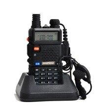 Baofeng uv 5r Walkie Talkie 5 W UV 5R Radio Portátil de Doble Banda UHF y VHF 136-174 MHz y 400-520 MHz Ham Radio A0850A