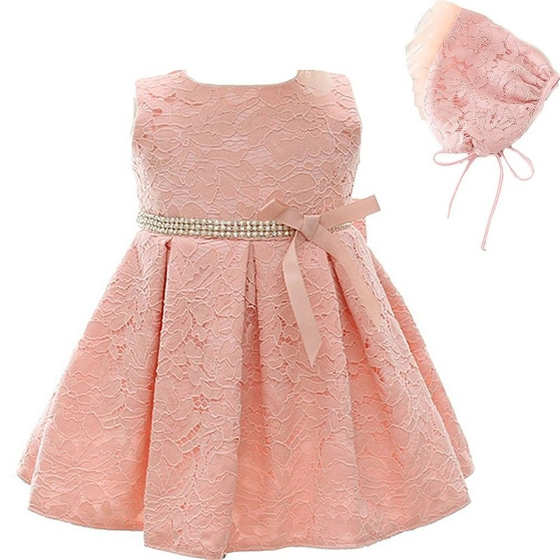 Baby Girl Washes Dress Lace Embroidery Princess Dress Birthday Party Bow Pink Dress The Princess Hat+ Pageant Formal Dresses marfoli girl princess dress birthday