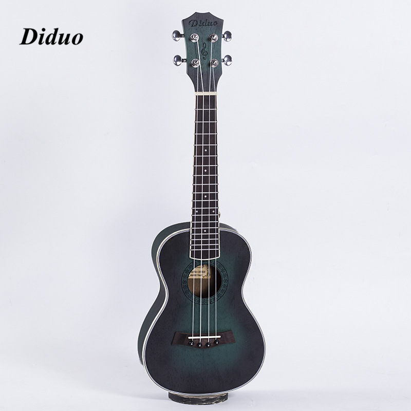 New 23 Inch Acoustic Electric Concert Ukulele  Hawaiian Guitar 4 Strings Ukelele Guitarra Mahogany Handcraft Green Musical Uke concert ukulele 23 inch hawaiian guitar 4 strings ukelele guitarra handcraft zebra wood musical instruments uke