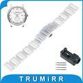 16mm 18mm 20mm completa ceramic watch band para hamilton pulseira wrist strap pulseira link + atualizado ferramenta + pino de prata preto