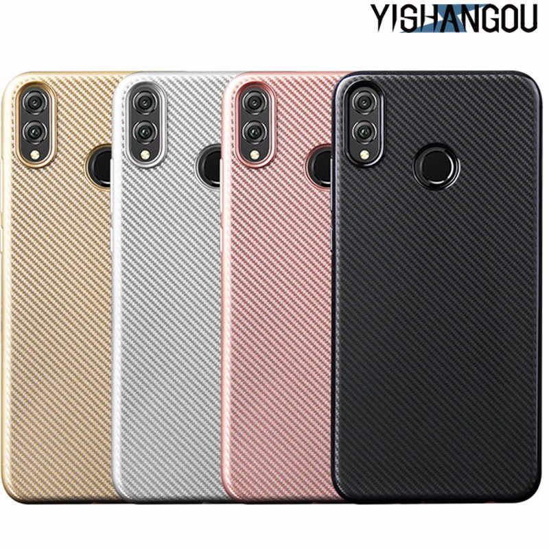 Tire Carbon Fiber Soft TPU Case For Huawei P20 Pro Mate 10 20 Lite NOVA 2i 3i 3E P Smart Y9 2019 Y5 Y6 Y7 2018 Honor 7A 8X 10 9