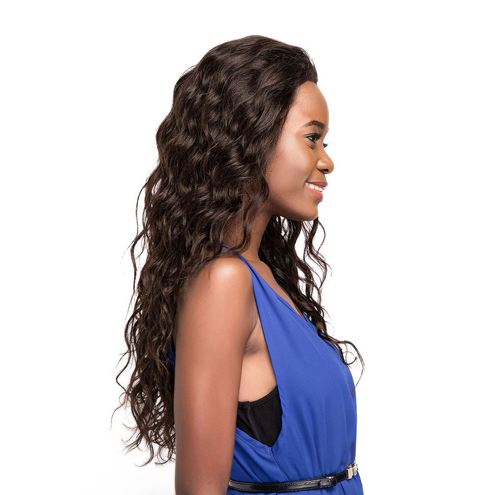 EUPHORIA 3x13 Lace Frontal Human Hair Wigs 22 190g Long Natural Color Afro Kinky Curly Brazilian Remy Hair Wigs For Women