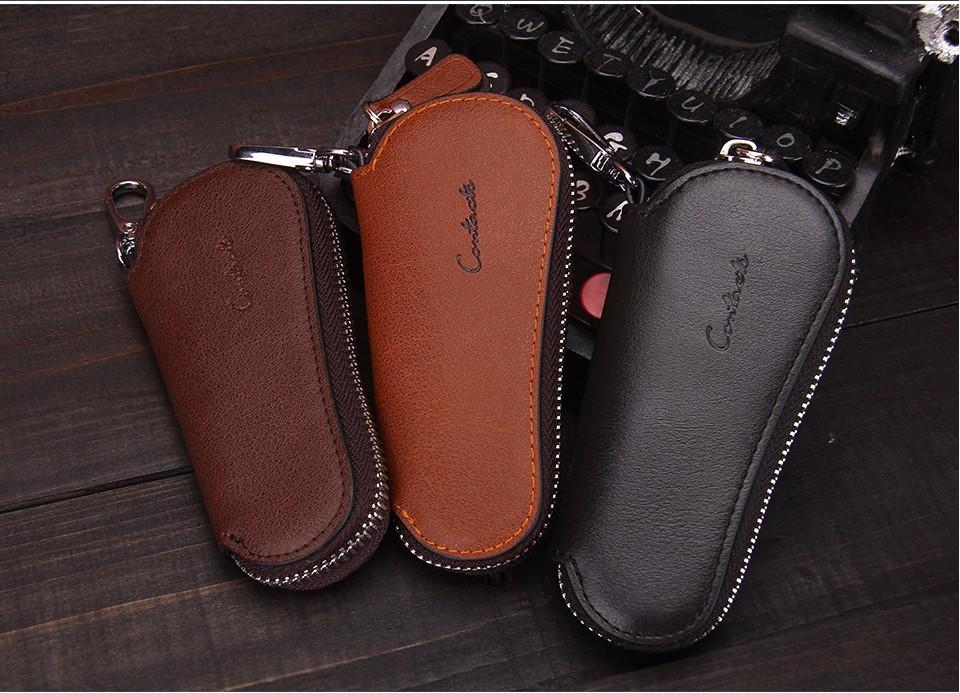 محفظة مفاتيح للرجال من الجلد الطبيعي 9