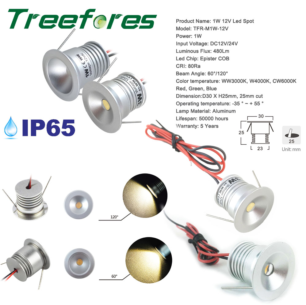 newest collection e5268 391bd US $2.95 |1W IP65 DC 3V 12V Mini LED Downlight 15mm 100Lm Waterproof Garden  Outdoor Ceiling SPot Light CE RoHS Light Lamp 5 Years Warranty-in LED ...