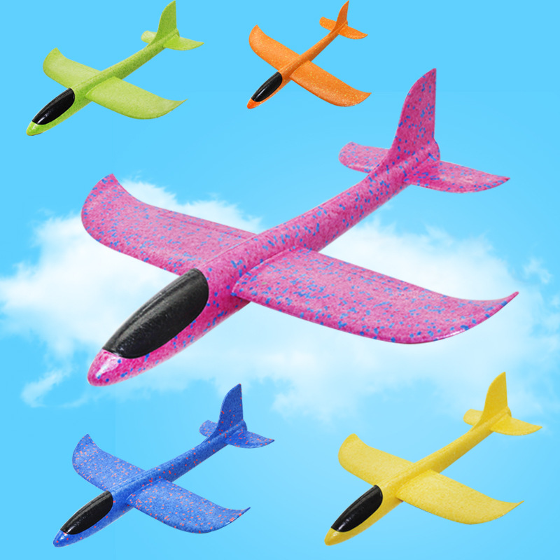 35/48CM EPP Foam Airplane Hand Throw Flying Glider Planes Model Kids DIY Toys Party Bag Fillers Outdoor Fun Toys for Kids Game portable soft small mini outdoor golf throw and catch flying discs goal games for kids adults toys