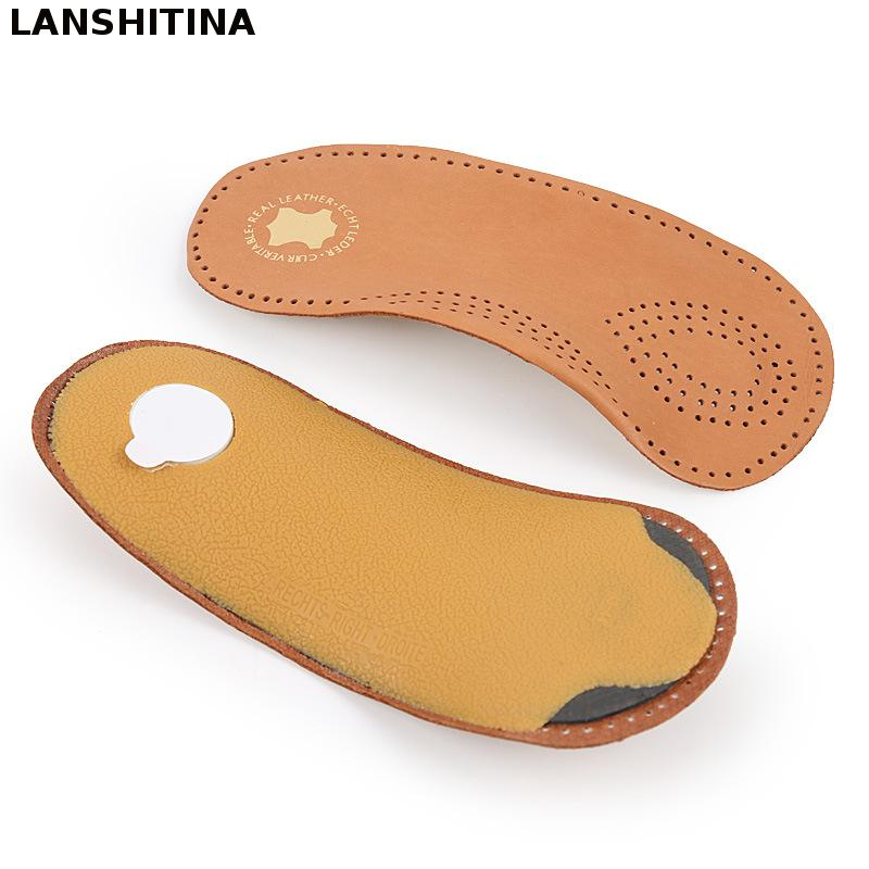 2017 New Leather Shoe Insole Orthopedic Arch Supports Flat Support Insoles Foot Pad Soles For Shoes Accessories Insert Foot Care