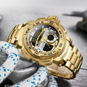Image 3 - Relogio Masculino 2019 Gouden Horloge Mannen Luxe Merk Golden Militaire Mannelijke Horloge Waterdicht Rvs Digitale Horloge 2019