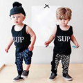 Artishare Baby Clothing Sets 2017 Summer Sleeveless Shirts + Pants Baby Boy Clothes Cotton Toddler Newborn Baby Boy Clothes
