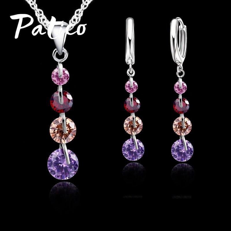 Ρομαντικό Σετ Κοσμήματα Κρεμαστό Κρεμαστό Κρεμαστό Κρεμαστό Ασημένιο 925 Γυναικείο Σετ Κοσμήματα Γυναικεία Κοσμήματα Ζιρκονίας Τσόκερ
