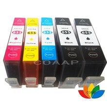5PCS Compatible C M Y BK Ink Cartridge with chip For HP 655XL Deskjet 3525 4615 4625 5525 6520 6525 6625 vilaxh ink cartridge with chip for hp 655 for hp655 c m y bk for hp deskjet 3525 4615 4625 5525 6520 6525 6625