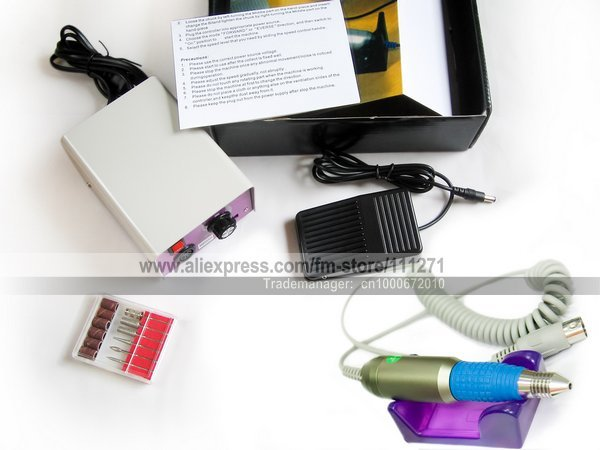 1set - Electric Nail Manicure & Pedicure Kit -228/MM-25000 (20000RPM)- Nail Machine /Filing Tools - Nail Art -Free shipping/EMS