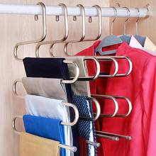 5 layers S Shape MultiFunctional Clothes Hangers Pants Storage Cloth Rack Multilayer Hanger