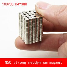 wholesale 100PCS D4*3mm mini round N50 Strong magnetic force rare earth Neodymium magnet diameter 4X3MM