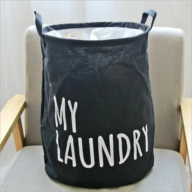 Waterproof Laundry Basket Canvas Storage Basket For Baby Clothes