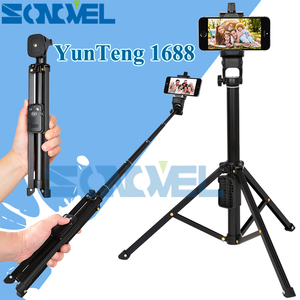 Image 1 - 3 in 1 Yunteng 1688 Bluetooth Remote Shutter Portable Handle Selfie Stick Mini Table Tripod For IOS Android Iphone Samsung Gopro