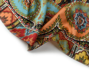 Image 5 - Thicken Paisley Prints 100% 실크 스카프, 여성용 럭셔리 스퀘어 실크 숄 풀라 우드 140x140cm