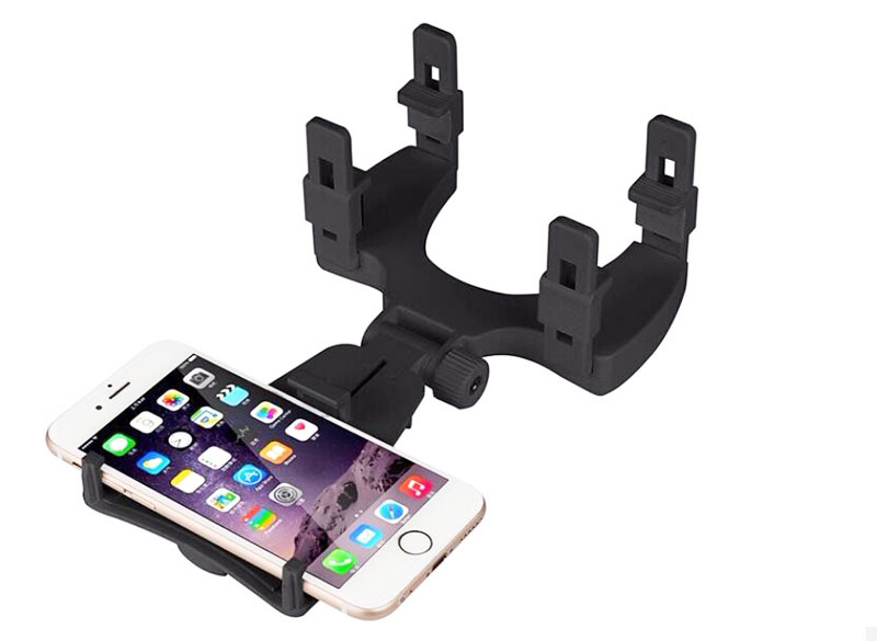 Adjustable Rotary GPS Mobile Phone Car Auto Rearview Mirror Mount Holders Stands For Samsung Galaxy On5 Pro,J3 Pro,S7 Active