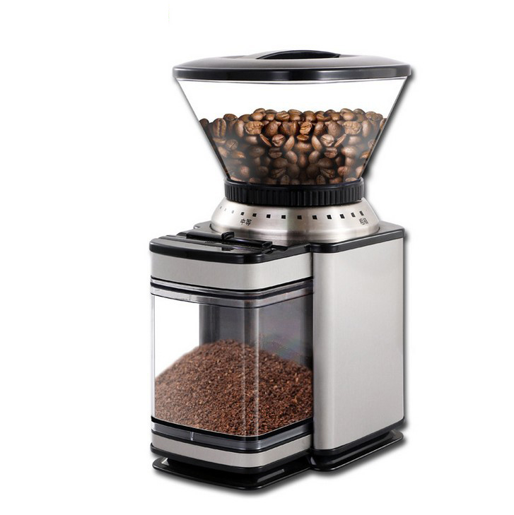 220V Electric Coffee Beans Grinder Multi function Grinding Machine Small Full Automatic Home Commercial Mill Powder