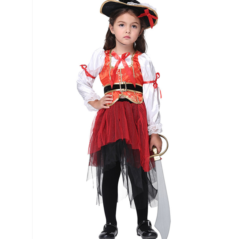 child pirate costumes kids girl fancy dress disfraz pirates cosplay clothing purim carnival halloween costumes for teenage girls - Teenage Girl Pirate Halloween Costumes
