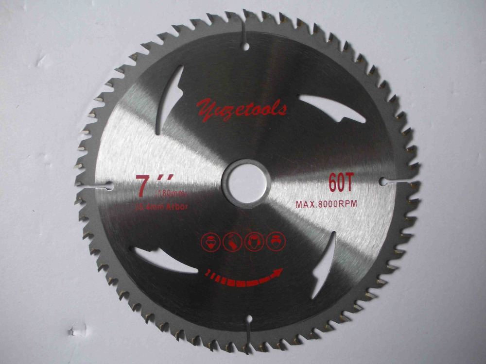 circular saw blade, 7 60T, 180mm 60 teeth wood cutting round disc, hard alloy steel circular saw 10 254mm diameter 80 teeth tools for woodworking cutting circular saw blade cutting wood solid bar rod free shipping