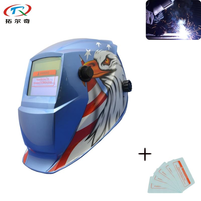 TRQWH Electrode Filter Mask Automatic Darkening LCD Easycap Button Chameleon Glasses Electric Helmet/Weld Cap TRQ GD04 2200DE