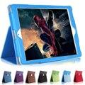 Для iPad Air 2 дело Матовая Личи Мягкая Искусственная Кожа Крышка Авто Wake Sleep Для ipad air 2 iPad 6 Магнитный Откидная крышка