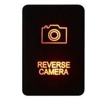 12V 3A Amber REVERSE CAMERA Push Button Switch For Toyota 2015 Hilux Prado 150 200 Rav4