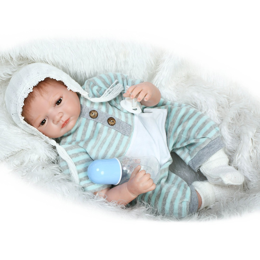 22''55cm Full Silicone Reborn Baby Doll Toy For Kids Play House Bedtime Toys High-End Birthday Present  To Girls Brinquedos high end soft vinyl reborn doll 55cm reborn baby toys kids birthday gifts play house diy for child juguetes
