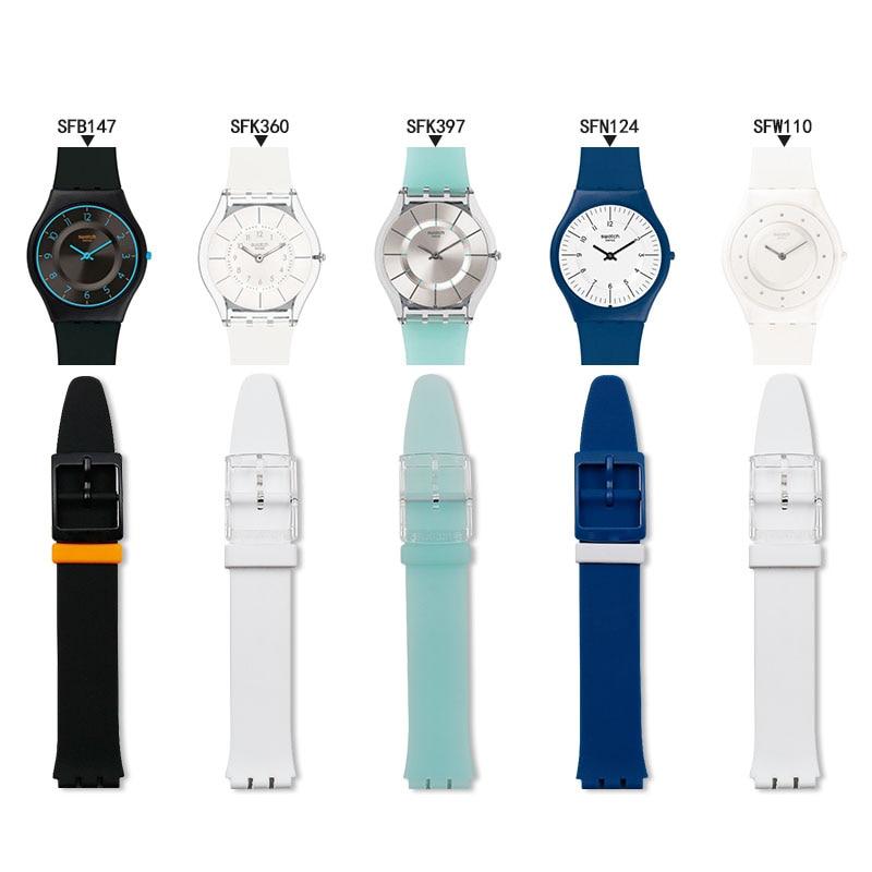 Bracelet de montre en Silicone avec boucle pour femmes, accessoires pour montre de peau avec rabat sport, étanche, bracelet de montre