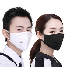 2Pcs/Set Fashion Respirator Mask With Breathing Washable Cotton Activated Carbon Filter Mouth Masks Exo Anti Dust Allergy(China)