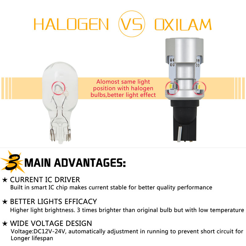Image 4 - OXILAM 1000lm T15 W16W LED Canbus 921 912 Wedge Reverse Light Bulb High Power Super Bright Car Exterior Lamp 6500K White-in Signal Lamp from Automobiles & Motorcycles
