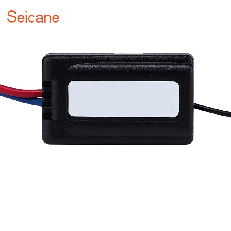 Seicane Fahrzeug Umrüstung Auto-netzteil Audio Adapter Störgeräusche Box Power Filter Einfache installation Schwarz Farbe