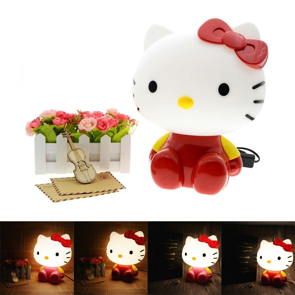 Cute Kitty Cat Cartoon Desk Lamp Baby Room Kids Bed Lamp Sleeping Night Light Decoration Eyeshield Table Lamp mini cute black cat night light table lamp home