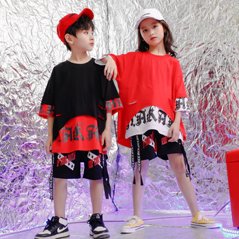 Kids Ballroom Tshirt Pants dancing concert wear Suits Party Outfits Girls Boys Modern Jazz Hip Hop dance wear Costumes Clothing boys modern jazz dancewear outfits kids hip hop party ballroom dance costumes sweatpants hoodie costumes tracksuit outfits