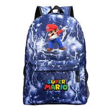 Cartoon Super Mario plecak moda nowy wzór plecak Super Mario tornister drukowanie mężczyźni kobiety chłopcy dziewczęta plecak szkolny tanie tanio CIBO Płótno Miękki uchwyt Unisex Tłoczenie Miękka printing Łukowaty pasek na ramię Na co dzień backpack Poliester