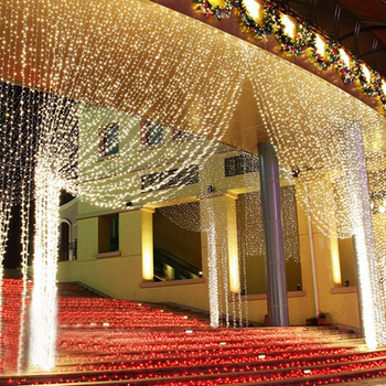 Z25 3x3m LED Wedding fairy Light Curtain string Light new year Birthday led christmas string light fairy Party Garden Decoration