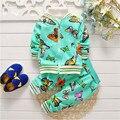 BibiCola весна осень новорожденных девочек комплект одежды хлопка девушки футболки + брюки спортивный костюм набор детей верхняя одежда для Детей костюм набор