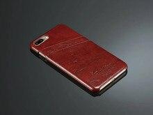 Роскошь Для Apple iPhone 7 Плюс Случае Ретро Кожаный Задняя Крышка телефон Shell Жилищного Для iPhone7 Plus Capa Fundas С Гнездами Для Карт