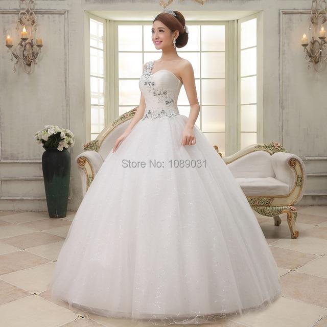 2017 nuevos vestidos de boda blanco/de marfil del amor uno del