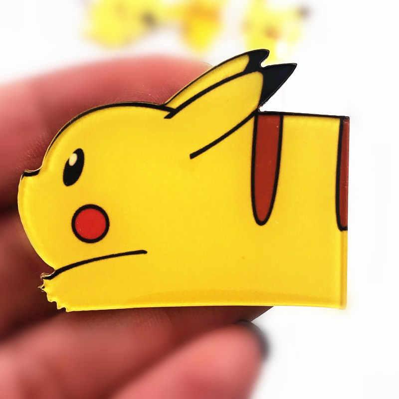 1 Pcs Cute Kartun Lencana Akrilik Anime Ikon Bros Pin untuk Anak Laki-laki Hadiah Ulang Tahun Dekorasi Pakaian Ransel Syal topi
