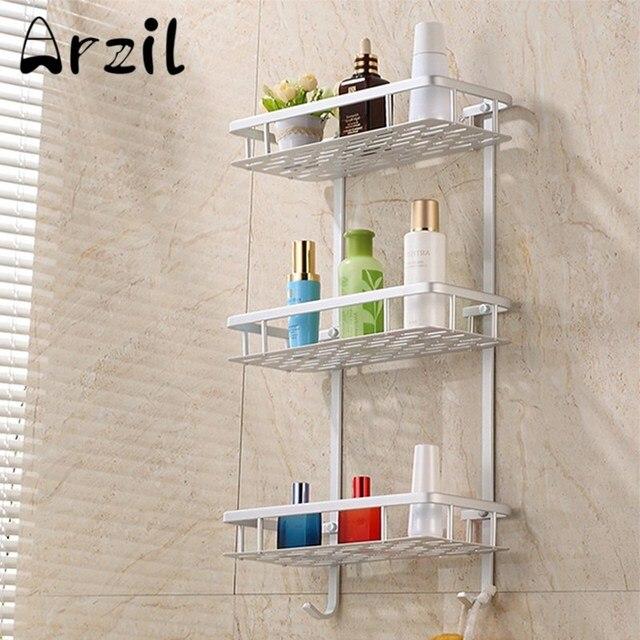 3 Tier Rack Bathroom Towel Aluminium Shower Caddy Shelf Storage ...