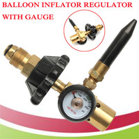 1pc Brass Helium Latex Balloon Inflator Regulator With Pressure Gauge For G5/8 Tank Valves 145*135mm Pressure Reducer