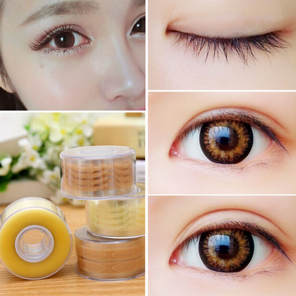 600Pcs/box Big Eyes Make Up Eyelid Sticker Double Fold Self Adhesive Eyelid Tape Stickers S Makeup Clear Beige Invisible Tool