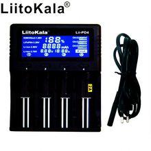 LiitoKala cargador de batería Lii PD4 LCD para 18650, 26650, 21700, AA/AAA, 3,8 V/3,7 V/3,2 V/1,2 V/1,5 V, batería de litio NiMH, li fe