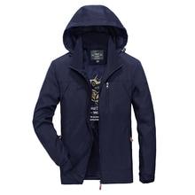 Jacket Men 2017 Spring Autumn Fashion Comfortable Waterproof Plus Size XXXXL Polyester Jackets Mens Windbreaker 4 colors M-4XL