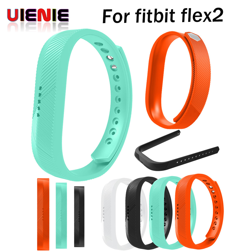 New Replacement Double Color Silicone Bracelet wrist band for Fitbit flex2 2 Band Strap  ...