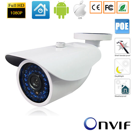 Multi-language Version 2MP Bullet Camera Full HD 1080P POE Network Outdoor IP CCTV 48V POE IP Onvif Camera xmeye цена